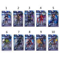 Wholesale captain toy resale online - 10 Style Avengers Endgame Action Figures toys New Avengers Thanos Iron Man Captain Marvel Hulk Captain America model doll toy C21