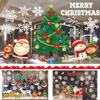 adesivos de natal para paredes venda por atacado-Autocolantes de Natal Autocolantes Decoração Apuramento Merry Christmas Ornament Casa Janela Adesivos de Parede Shopping Mall Vidro DHL WX9-1163