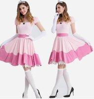 geschichten spiele großhandel-Europäische und amerikanische sexy Dienstmädchen Kostüm Spiel Uniform Halloween Kostüme cos spielen Märchen Schneewittchen Kleid