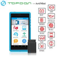 software de escáneres automotrices al por mayor-TOPDON ArtiMini Auto Diagnostic TooL Software Automotriz Todo el sistema OBDII OBD2 Bluetooth Escáner WiFi Función completa pk X431 Pros