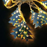 batteriebetriebene im freien weihnachtsbäume großhandel-LED Lichterketten 1,5 M 3 M 4,5 M LED Weihnachtsbaum Fairy Lichterketten Batteriebetriebene Weihnachtsaußenterrassengirlande Hochzeitsdeko