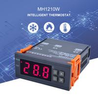 dijital termostat sıcaklık kontrolü toptan satış-YIERYI MH1210W Dijital Sıcaklık Kontrol AC90-250V 10A Sensörü ile 220 V Termostat Regülatörü-50 ~ 110C Isıtma Soğutma Kontrolü