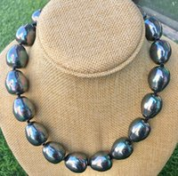"Rare énorme 16 mm Multicolor South Sea Shell Pearl Coeur Fermoir Collier 18/"" AAA"