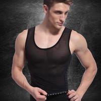 06d71c9a91 2 Colors Waist Training Corsets For Men Girdle Belt Reduce Tummy Belly Bust Body  Shaper Cincher Male Abdomen Slimming Vest CCA10924 10pcs