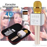 micrófonos de karaoke para celular al por mayor-Bluetooth portátil KTV Home KTV altavoz inalámbrico de teléfono celular Micrófono Puerto de carga con USB