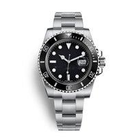 водонепроницаемые часы оптовых-Мужские часы Высокое качество керамическая рамка Азия 2813 Механическое скольжение гладкое 40мм 116610 Автоматические механические спортивные часы Водонепроницаемые