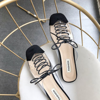 Wholesale euro style shoes online - Women s Shoes Fashion Explosion Summer New Euro American Style Women s Square Head Transparent Women s Slippers Beach Slippers