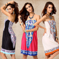 Wholesale plus clothing for women for sale - Group buy Summer Dresses For Women Plus Size Dress Girl Knee Length Dresses Cotton Dress Off Shoulder Sexy Chiffon Beach Dress home clothing WX9