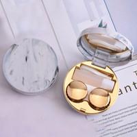 kontaktlinsen süßer kasten groihandel-Netter Marble Streifen Kontaktlinse-Kasten-Reisen Gläser Objektive Box für Unisexaugenpflege-Set-Halter-Behälter-Support Geschenk Schöne