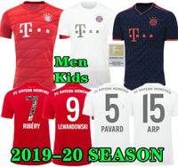 kits de ventilador venda por atacado-Bayern de Munique 19 20 JAMES CASA munchen camisa de futebol 2019 2020 VERSÃO DO JOGADOR FAN LEWANDOWSKI MULLER HUMMELS Camisa de futebol kit longe terceiro