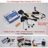 Wholesale vw parking sensor resale online - Liislee For VW New Santana Car Parking Sensors Rear Back Up Camera in Visual BIBI Alarm Parking System