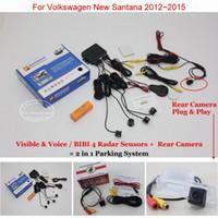 Wholesale vw cameras for sale - Group buy Liislee For VW New Santana Car Parking Sensors Rear Back Up Camera in Visual BIBI Alarm Parking System