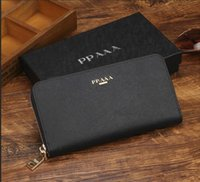 Wholesale brown long handbag resale online - hot Europe and the United States luxury wallets fashion long wallet designer wallet handbag wallet Multi color optional purse with box