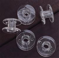 carretéis de rosca da máquina de costura venda por atacado-Limpar Bobinas De Costura De Plástico Linhas de Bobinas Esvaziar Bobinas Para O Irmão Máquina De Costura Acessórios Para Trabalhar Ferramentas de Costura