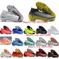 fg tênis de futebol venda por atacado-2019 sapatos de futebol dos homens Mercurial Superfly VI 360 Elite CR7 chuteiras de futebol Neymar FG Crampons de futebol botas SuperflyX Ronaldo laranja