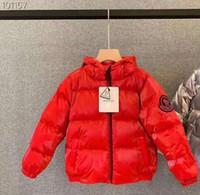 baixo, casaco, grande, meninas venda por atacado-Top transporte nova chegada M marca meninos inverno jaqueta para meninas para baixo parkas para baixo luz quente grandes crianças casaco meninos meninas roupas 3T-11T