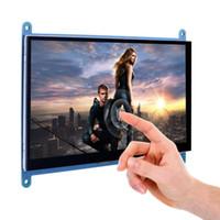 tft touch hdmi al por mayor-BLEL Hot Pantalla táctil capacitiva de 7 pulgadas Pantalla TFT LCD Módulo HDMI 800x480 para Raspberry Pi 3 2 Modelo B y RPi 1 B + A BB Bla