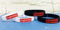 Wholesale bracelets mix order for sale - Group buy Fashion fashion collocation supr silicone bracelet Wristband Surf Mix Order Bracelet Gift