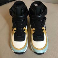nuevas botas de velocidad al por mayor-Nuevos zapatos de diseñador Speed Trainer Negro Rojo naranja azul greenTriple Flat Fashion Boots Sneaker Speed Trainer zapatos casuales 5uytr