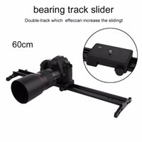 Wholesale rail car tracking online - Freeshipping SD cm Camera Track Rail Car System Video Camera Stabilizer Low Noise quot Delay Dolly Slider For Timelapse Photography