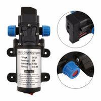 микронасосы 12v оптовых-DC 12V 80W Micro Electric Diaphragm Water Pump 5.5L/min High Pressure Car Washing Spray Automatic Switch For RV Boat Hot Sale