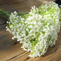 silikon düğün çiçekleri toptan satış-Yapay Bebek Nefes Çiçek Gypsophila Sahte Silikon Bitki Babys Nefes Sahte Plastik Çiçek Düğün Ev Otel Parti Süslemeleri için