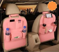 Wholesale auto travel accessories resale online - Auto Car Seat Back Multi Pocket Storage Bag Organizer Holder Accessory Multi Pocket Travel Hanger Backseat Organizing