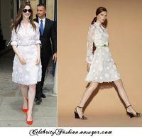 vestidos bordados blancos para fiesta al por mayor-Fashion Runway Casual Holiday Party Summer Dress Vestido de mujer con cuello en V ahuecado bordado sólido elegante vestido blanco
