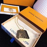 titan 14k gold halskette großhandel-Top Qualität Marke Neue Modeschmuck Edelstahl Luxus Anhänger Halsketten Armreifen pulseiras Armbänder Für Mann und Frauen mit Geschenkbox HAPY64