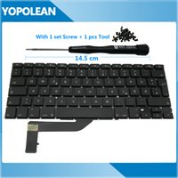 schrauben macbook großhandel-Neue deutsche Tastatur für MacBook Pro Retina 15
