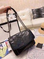 Wholesale wax oiled handbags for sale - Group buy Y sint L niki crossbody bags oil wax leather chain shoulder bags ladies tote handbags purses dust bag gift box