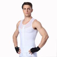 b3c532739 compression vests Australia - TFSCLOIN Mens Compression Fitness Clothing Men  Zipper Elastic Shaping Tank Tops Summer