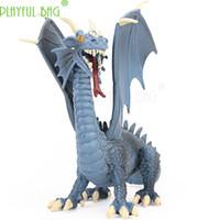 drachenfliegen spielzeug groihandel-Simuliertes Tier Feueratmender blauer Drache Modell fliegende Dinosaurier Spielzeug Geschenk für Jungen und Mädchen Freude hinzufügen HI05