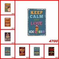 Wholesale painted tin resale online - Retro Wall Tin Poster English Poetry Posters Keep Calm And Love Art Iron Painting Fit Bar Pub Home DÉCor lj E1