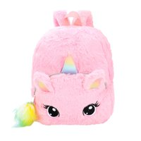 Wholesale cartoon plush backpack resale online - Cartoon Plush Children s Backpack Kids School Bags For Girls Soft Plush Bag Kindergarten Toddler Children School Backpack D1