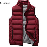 мужской жилет военно-морской флот костюм жилет оптовых-New Vests Men  Mens Sleeveless Jacket Cotton-Padded Men's Vest Autumn Winter Casual Coats Male Waistcoat 5XL 00000