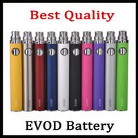 evod mini protank zerstäuber großhandel-EVOD Batterie 650mAh 900mAh 1100mAh Batterien Ego E Zigaretten Für MT3 CE4 Mini Protank Zerstäuber Vs Vision Spinner Gesetz Smart Batterie