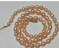 Wholesale gold natural south sea pearls for sale - Group buy elegant natural baroque south sea mm gold pink pearl necklace INCH k