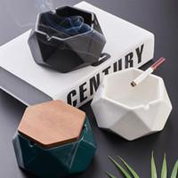 Wholesale european ashtray for sale - Group buy Creative European Ashtray With Lid American Ceramic Home Decoration High grade Ashtray
