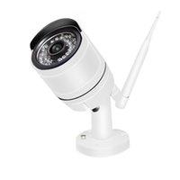 ingrosso 4ch cctv hdd 1tb-4CH CCTV Wireless 720P NVR 4PCS 1.0MP IR esterna P2P Wifi IP CCTV Telecamera di sicurezza Kit di sorveglianza del sistema integrato 1 TB HDD