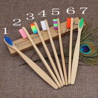 yumuşak fırçalar toptan satış-Otel Seyahat Diş Fırçası MMA2668-8 için Bambu Diş Fırçası Bambu kömür Diş Fırçası Yumuşak Naylon Kapitellum Bambu Diş fırçaları