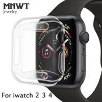 чехол для яблочных часов оптовых-MNWT для Apple часы тонкий мягкий чехол для Apple, часы серии 44 мм 40 мм 42 мм/38 мм для iWatch серии 4 3 2 ТПУ многоборье чехол