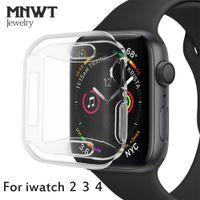 assistir novo sem tags venda por atacado-Mnwt para apple watch macio slim case para apple watch series 44mm 40mm 42mm / 38mm para iwatch série 4 3 2 TPU All-around caso protetor