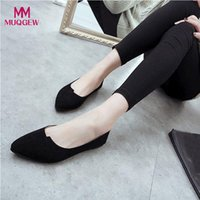 yumuşak ayakkabı tasarımcısı toptan satış-Kadın Flats Yeni Moda Bayan Rahat Shoes Yumuşak Kayma-On Casual Tekne Designer İlkbahar Yaz Flats zapatos mujer