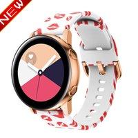armband drucken großhandel-20mm Silikonarmband für Samsung Galaxy Watch Active 42mm S2 Classic Band Amazon Bip Huawei Watch 2 Druck Armband