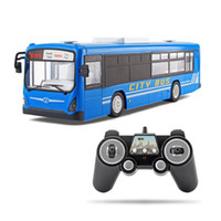 Wholesale speed remote toy cars for sale - Group buy RC Car Channel G Remote Control Bus City Express High Speed One Key Start Function Bus with Realistic sound and Light T200115