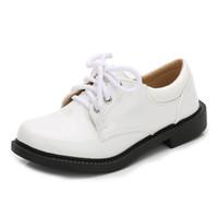 sapatos de meninas de patentes negras venda por atacado-Meninos sapatos de couro preto outono crianças escola vestido sapatos moda bebê meninos meninas sapatos de couro de patente para crianças