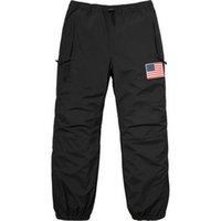 Wholesale gore tex xl resale online - Fashion BOX LOGO Flag Punch Pants Men Women Trousers Fashion Gore Tex Pant Top Quality S XL HFKZ002