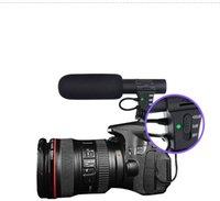 высококачественная hd-видеокамера оптовых-Высокое качество MIC-05 Профессиональный Интервью Микрофон Гиперкардиоидная Камера Видео Открытый ПК Запись Hifi HD Звук 3,5 мм Разъем Микрофона