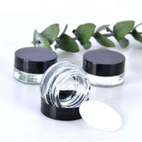 ingrosso fondo del contenitore-Cancella Eye Cream Jar 3g 5g Empty Glass Lip Balm contenitore Wide Mouth vaso cosmetico di esempio con fondo spesso